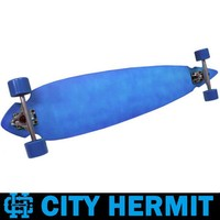 CITY HERMIT BLUE DIP PINTAIL CHEAP LONGBOARD COMPLETE FOR SALE