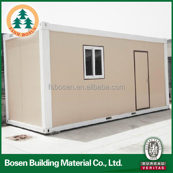 20ft flat package strong frame prefab container home for sale