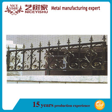Yishujia factory garden fence panels prices, decorative iron fence spikes