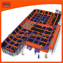 Huge olympic size trampoline with basketball ,foam pit