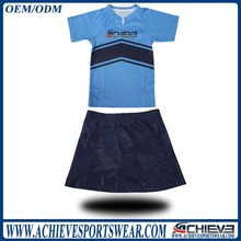 customized cheerleading crop tops, netball dresses, table tennis jersey