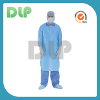 Bule apron-style isolation disposable surgical gown certificated FDA