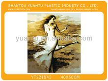 Modern famous bright color abstract human figure oil painting by number