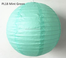 Mint Green Hanging Paper Lantern/Lampion Decorative Crafts