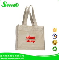 Fashion pvc coated cotton bag for ladies