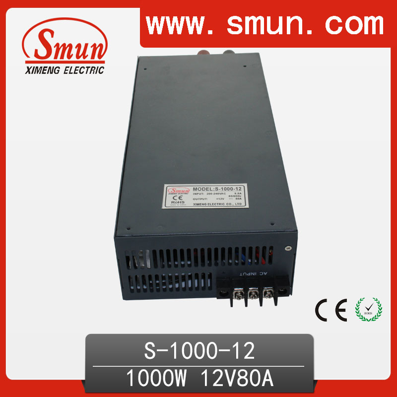 1000W AC to DC Power Supply 12V 80A Led Power Supply