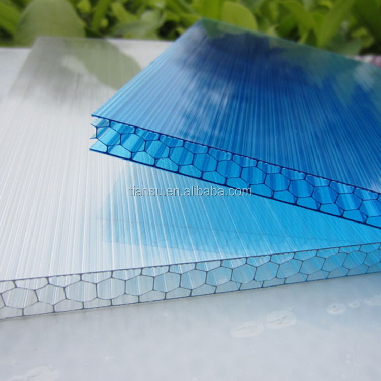 plastic sheet greenhouse cover cellular polycarbonate hollow sheet canopy material