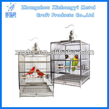 PTFL-01 Wholesale stainless steel cockatiel bird cages