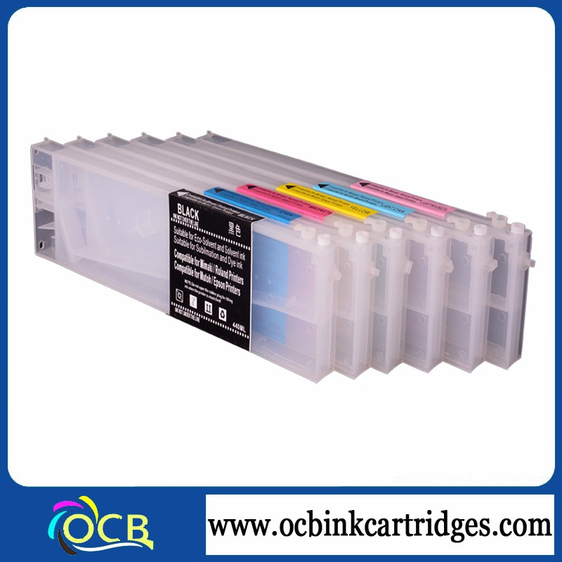 440ml Refillable Ink Cartridge For Mutoh Vj1604 With Permanent Chips