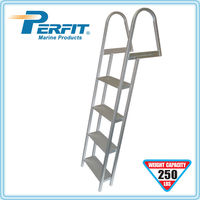4 steps aluminum marine dock ladder with mounting hardware