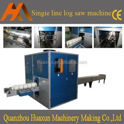Automatic toilet tissue paper log saw paper roll cutting machine
