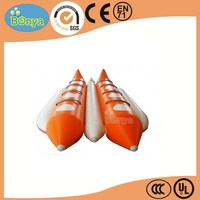 Top level nice looking inflatable sea banana boat for 3 persons