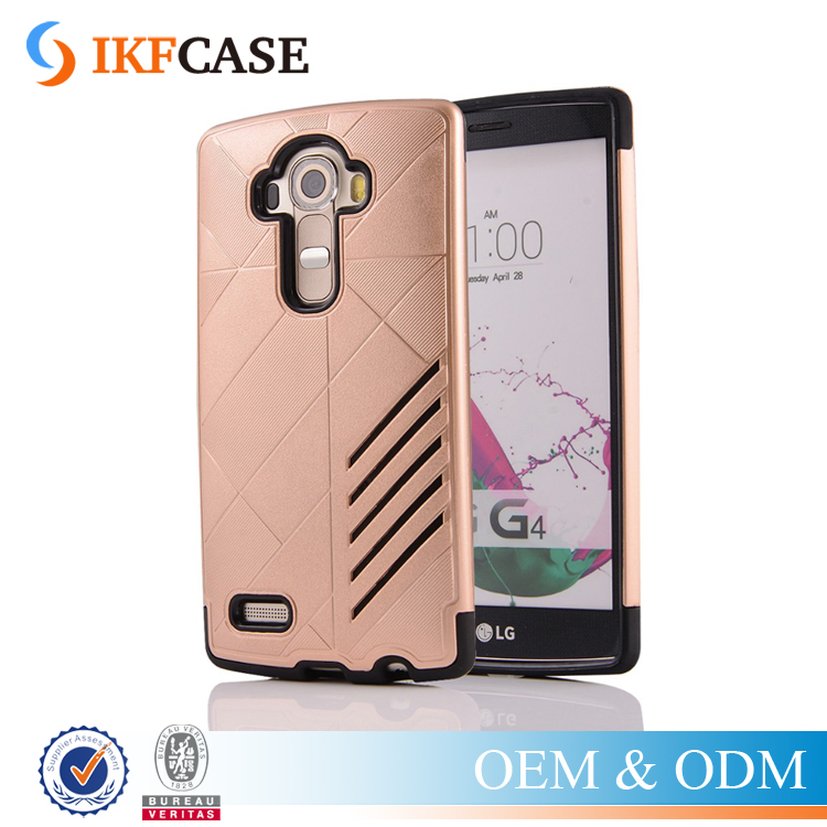 2016 New ! Hot Selling Hybrid Armor Case for LG G3 G4 PC+TPU Dual Layer Ventilate Shockpoof Phone Back Cover