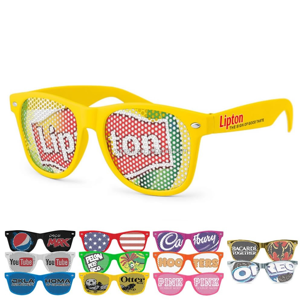 Customized logo promotional gift pinhole sun glasses with FDA CE made in SJ-PG01