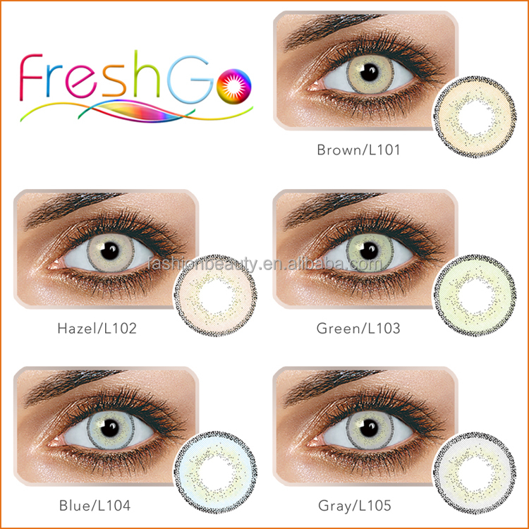 2018 New Product Fresh Coloured Contact Lens Comfortable Soft Fashion Contact Lenses Edge Contact