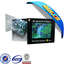 New arrival 3D effect lenticular cover Funny jigsaw puzzle games 3D puzzle