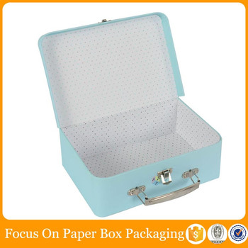 high end decorative cardboard suitcase packaging box