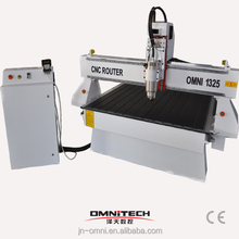 China Jinan omni 1325 cnc router with mist lubrication system for cnc router