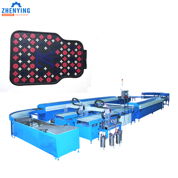 Soft rubber PVC car mat making machine