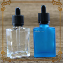 screen printing glass factory in china e liquid glass bottle square black childproof tamper cap