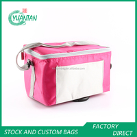 Insulated lunch bags foldable picnic food container cooler bag with zipper for frozen factory price retail 3 colors