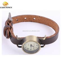 2016 New design fashionable custom cheap leather cords wrist watch for men