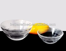 clear glass bubble bowl