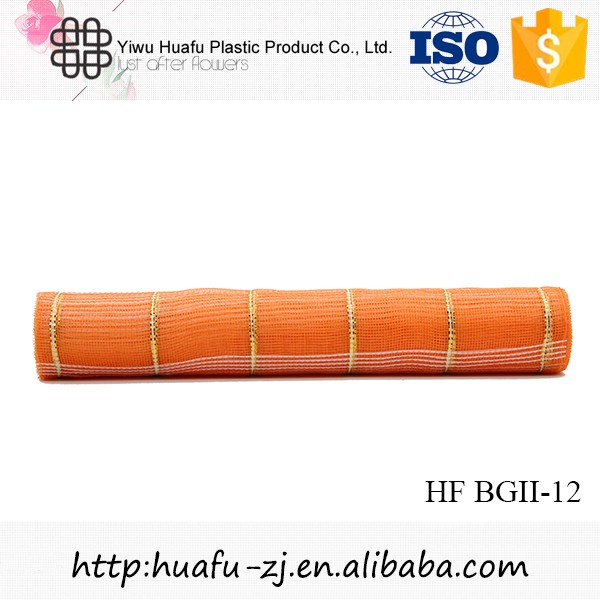 Hot sale beautiful gift packing organza flower mesh roll