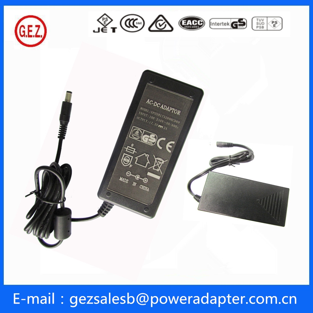 PSE GS CCC CE dc adapter 18v 2.6a
