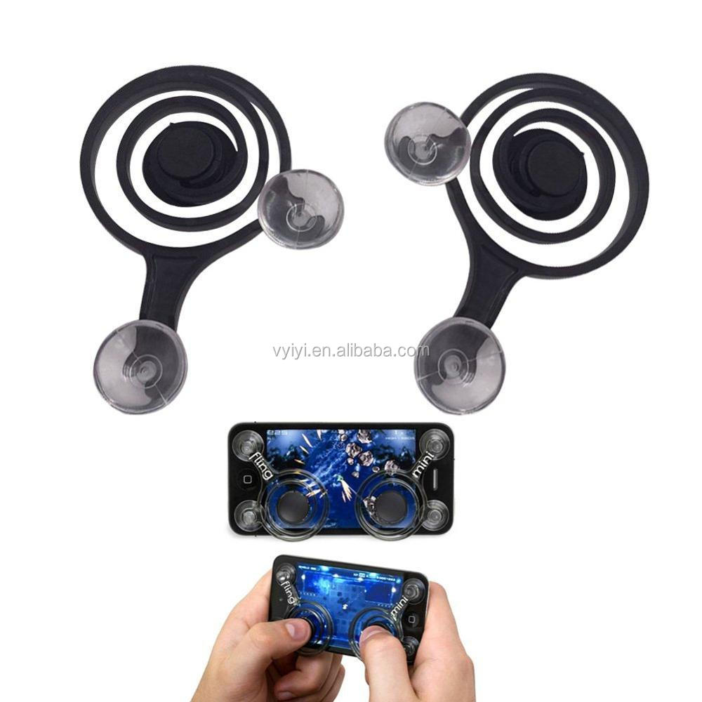 Popular Mobile Joystick for iPhone/Android/Tablets, Mobile Fling Mini Joy Sticks Touch Screen Game Handles Controller Rocker