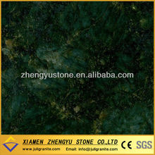High quality polished India Peacock Green granite