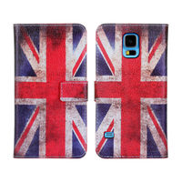 Retro UK & USA Flag Leather Case for Samsung Galaxy S5 S V