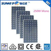 OEM solar energy 250W pv panel product mono factory direct manufacturing machine solar panel for solar power system