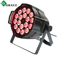 Stage light dmx 512 RGBAW flat par 18psc 15watt RGBW flat par stage light factory led par can