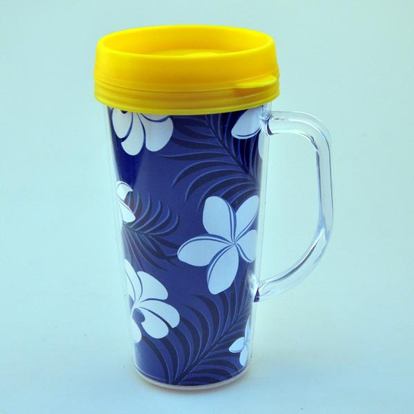 Double WallI Insulated Mug, 450ML Plastic Water cup, BPA Free
