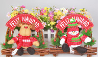 Christmas deer plush decoration Christmas promotion students toys