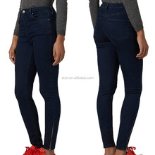 Fashion wholesale latest fashion jeans China women stretch-denim and skinny jeans