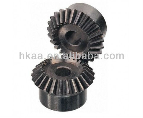 black steel taper gear ,high precise straight tooth bevel gear