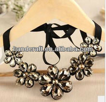 Korean style diamond crystal high quality female fake collar necklace, fake collar sweater chain N-016