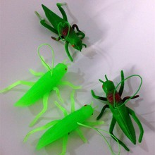 3D plastic grasshopper toys,PVC small insect animal toys