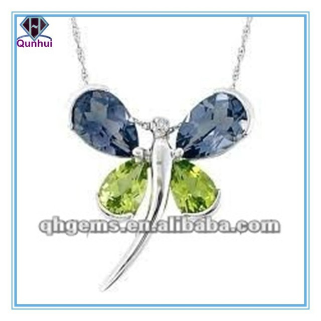 Charming Dragonfly Shaped Necklace With High Quality CZ pendant