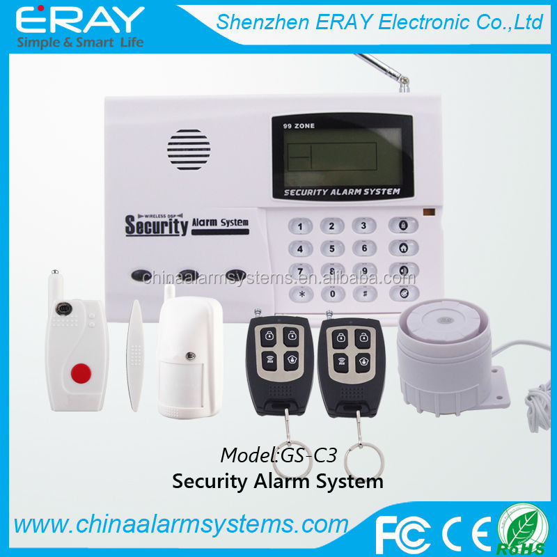 99 wireless zones Security Alarm System support intelligent music alarm