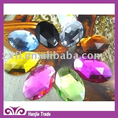 Oval flat back acrylic rhinestone for jewel accessory for decorations