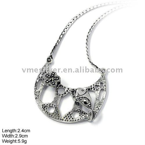 [NKP-0925] 925 Silver Jewelry, Sterling Silver Pendant with Marcasite