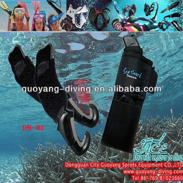 China-made scuba diving knives and other diving accessories