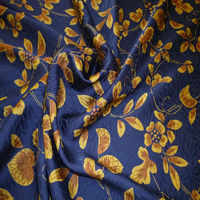 Pattern of arabesque print silk fabric chrysanthemum badger for crepe cushion cover