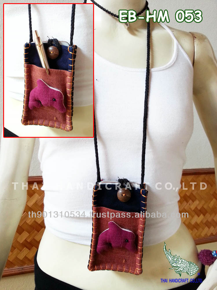 Thai Handmade Fish Call Phone bag Mobile bag