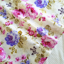 New Design Cotton Fabric for DIY Patchwork Sewing Big Flower Bedding Bags Dot Tilda Doll Cloth Textiles Fabric