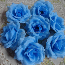 10cm cheap blue rose head artificial flower for wedding and DIY