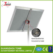 Free standing aluminum restaurant menu display board with poster changable snap frame direction board